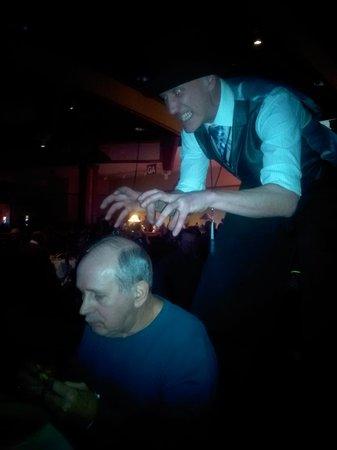 Soaring Eagle Casino & Resort : A stilt walker picking on our Grandpa