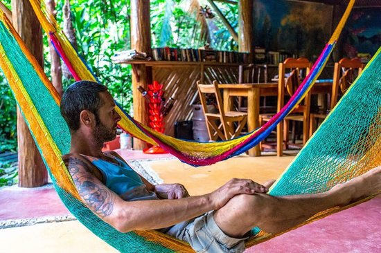 The Round House Hostel: Chris, hammock-time