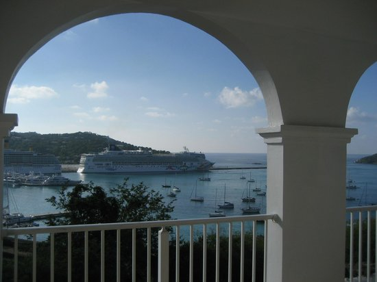 Bluebeard's Castle Resort : Balcony view from Pirate's Pension