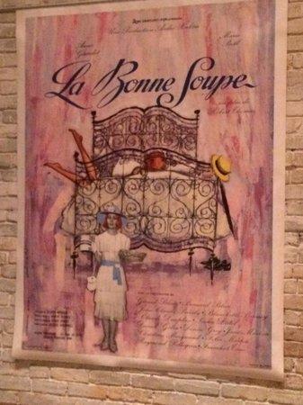 La Bonne Soupe : Poster at the restaurant