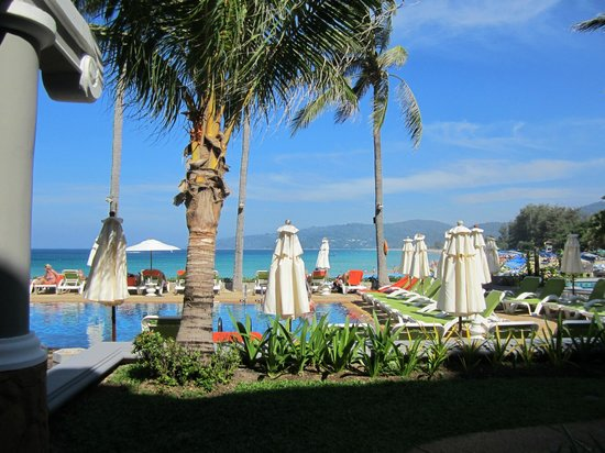 Beyond Resort Karon : View from room overlooking pool & beach