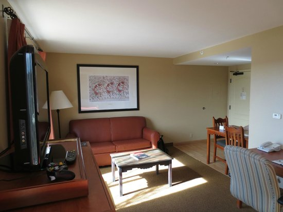 Homewood Suites Santa Fe: sitting area of our suite
