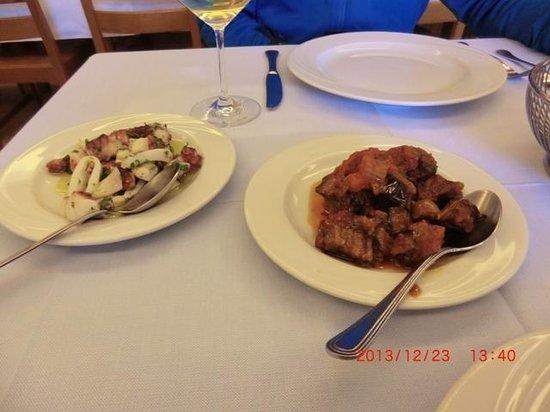 Trattoria Piccolo Napoli: 前菜2皿