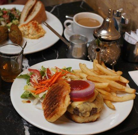 Cafe Clock: Falafel and camel burger
