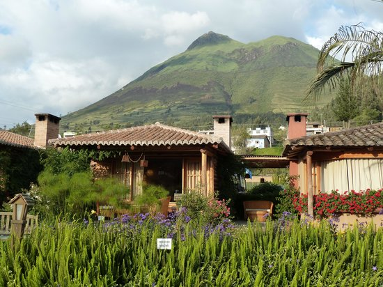 Hosteria Cabanas del Lago : Cabins with the volcano behind.
