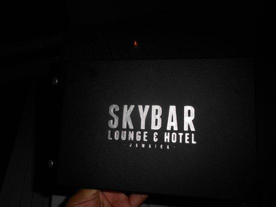 One Love Bus Bar Crawl: The Skybar menu