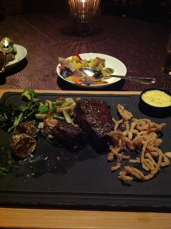Eau Palm Beach Resort & Spa: Wagyu steak at Angle restaurant- not as goodasit looks