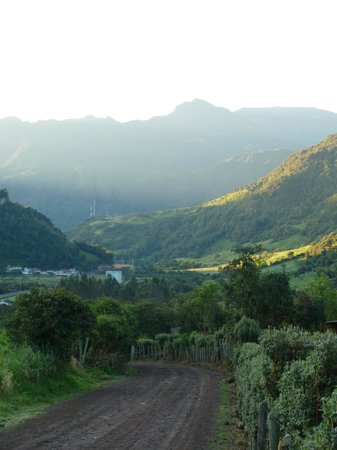 Termas de Papallacta: View towards the volcano from the hiking trail.