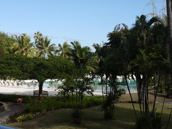Le Meridien Tahiti: view from our patio