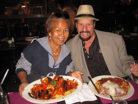 Vincent's Clam Bar: My wife & I enjoying Great Lunch!