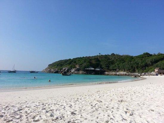 The Racha : Beach with a view of reggae bar & non-hotel restaurant