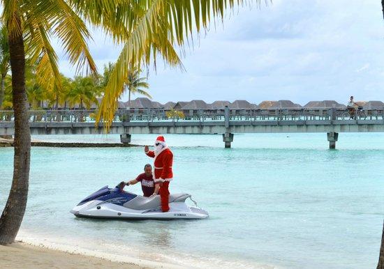 Four Seasons Resort Bora Bora: Santa on a Jet Ski