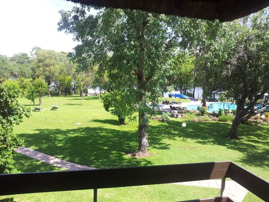 A'Zambezi River Lodge: u can see the river in the far background