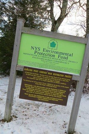 Minnewaska State Park Preserve: at the parking lot of Minnewaska Lake