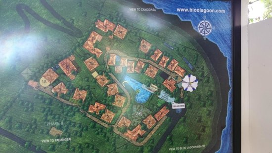 Bloo Lagoon Village : Map of Bloo Lagoon in dining area
