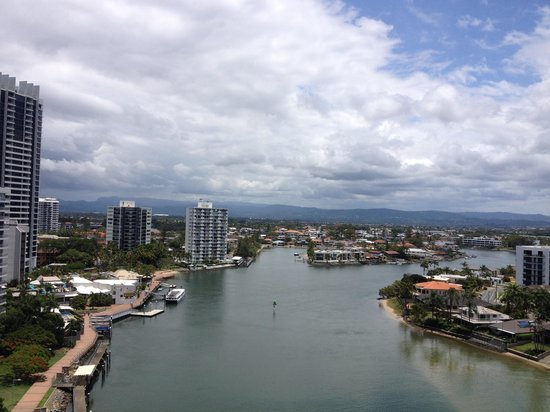 Vibe Hotel Gold Coast: View from balcony on 15th floor