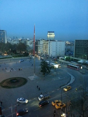The Marmara Taksim: City view from my room at Marmara Hotel