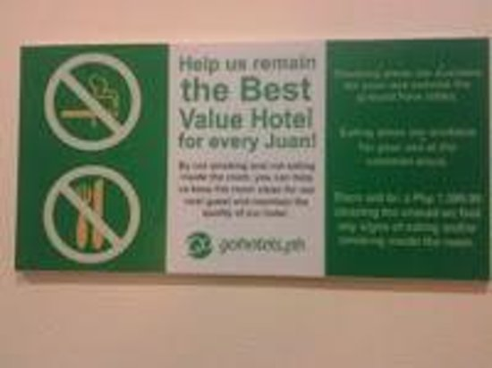Go Hotels Tacloban : Signs