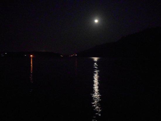 Umiam Lake: Moonlit night view