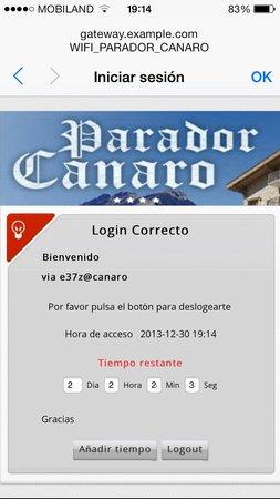 Hotel Parador Canaro : Wifi gratuito