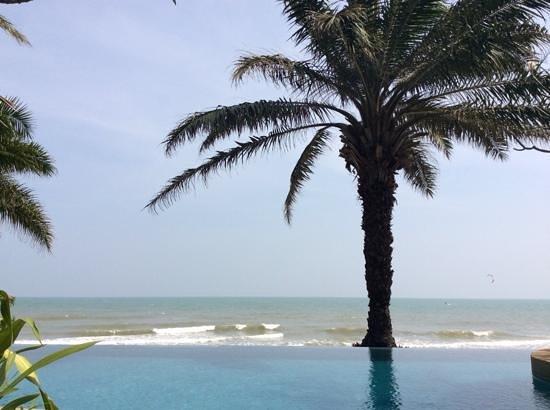 Aleenta Hua Hin Resort & Spa: vue de notre terrasse