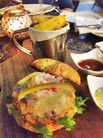 Chulia Court: Five 27's favourite: The Organic Smoked Pork Burger with Rambutan Salsa