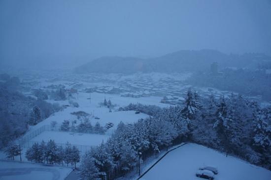 Hotel Associa Takayama Resort : vue de la chambre 832 au matin, magnifique!