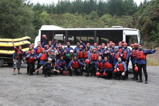 Tongariro River Rafting: Team
