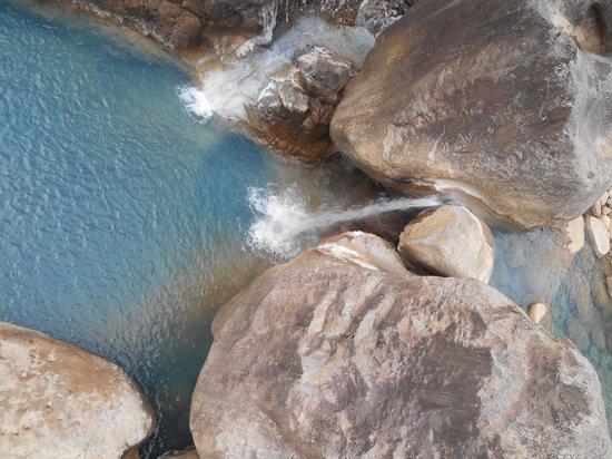 Double Decker Living Root Bridge : Blue water