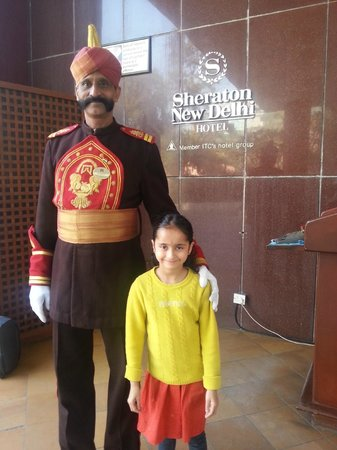 Sheraton New Delhi: friendly greeter always!