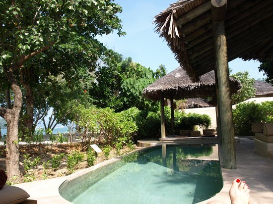 The Naka Island, A Luxury Collection Resort & Spa Phuket: Lazing by the villa pool