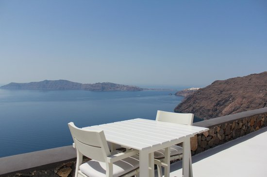 Aenaon Villas: view from breakfast table