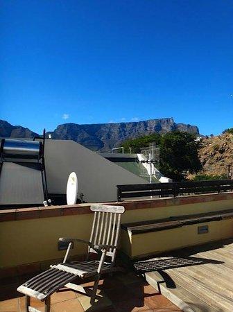 De Waterkant Cottages : Dachterrasse - Blick zum Tafelberg