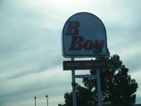 Bun Boy: goofy signage