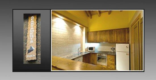 Hotel Roca : Cocina de uno de los apartamentos del Hotel