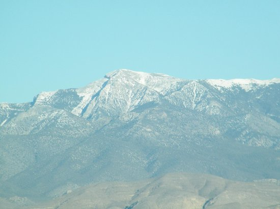 The Pahrump Nugget Casino: view of Mt. Charleston from parking lot