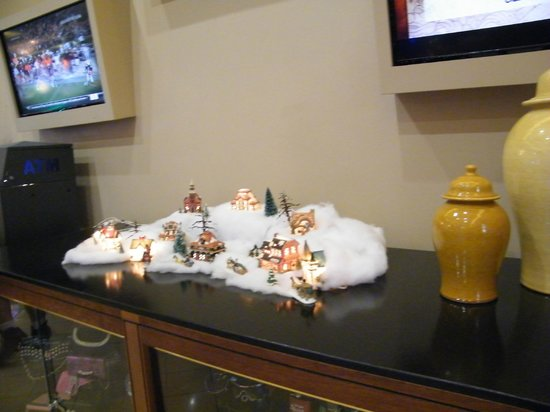 The Pahrump Nugget Casino: nice little christmas village at entrance