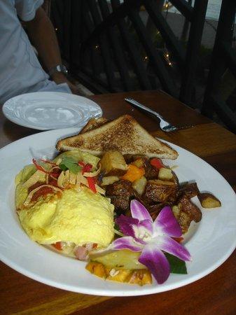 Hula Grill Waikiki: ボリューム満点のオムレツ