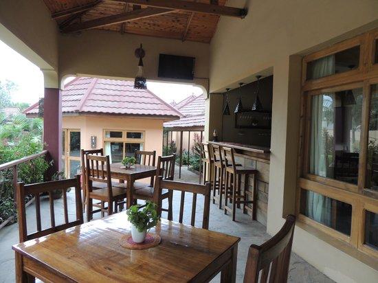Ahadi Lodge: View from veranda towards office