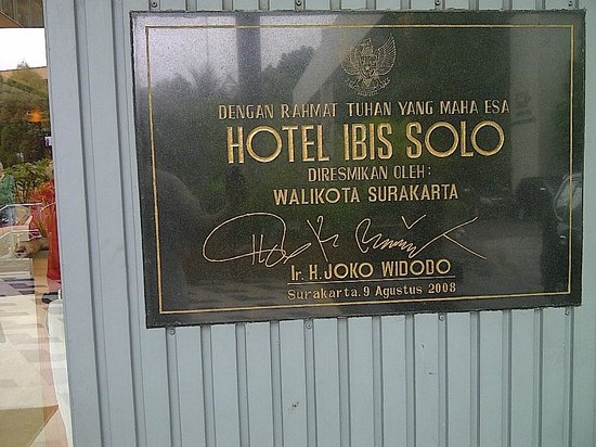 "Ibis Styles Solo : Establishment by the famous ""mr.Jokowi"", the then DKI Jakarta governor..."