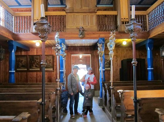 Wallachian Open Air Museum: Interior of the wooden church in the lower village
