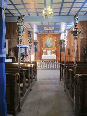 Wallachian Open Air Museum: Interior of the church in the lower village