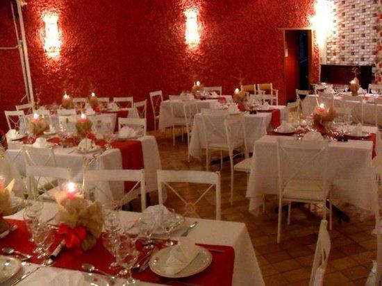 Ubatuba Palace Hotel: Restaurante preparado para Ceia de Natal