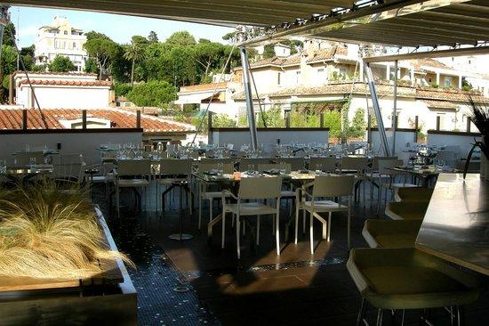 Hotel Valadier: Dachterrasse Bar/Restaurant