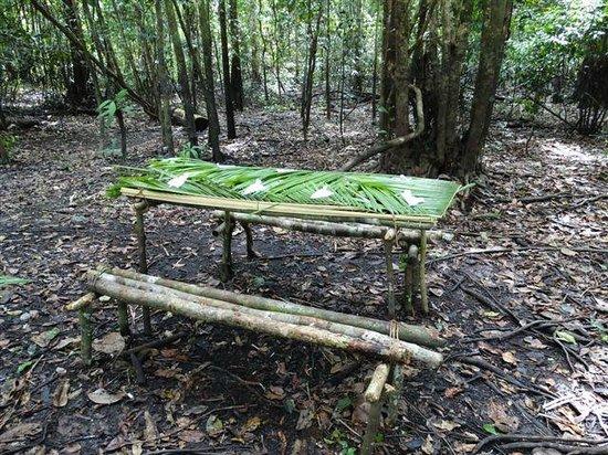 Ivy Mara Ey Lodge: Mittagstisch aus Blätter