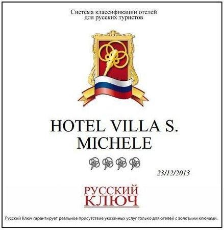 Hotel Villa San Michele: Certificato Russkiy Kliuch