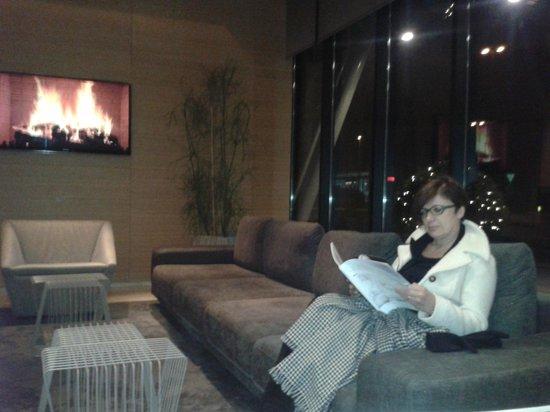 Radisson Blu Plaza Hotel Ljubljana: Una zona della lobby