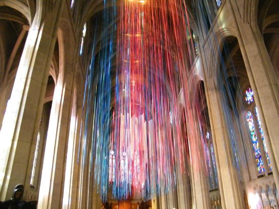 Grace Cathedral: interior intrigue of streamers