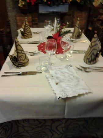 Restaurant La Stella: Tavola agghindata per il cenone di Capodanno