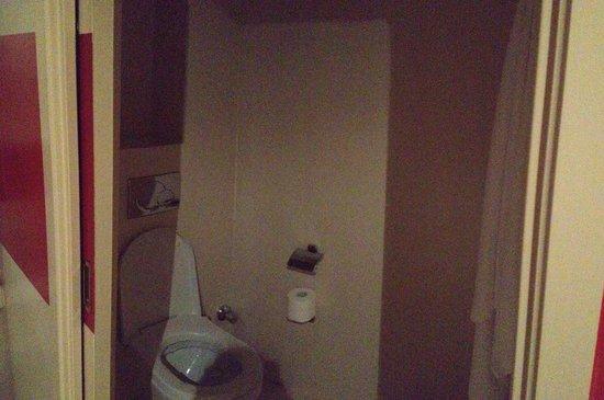 Hotel Westminster : Il LOCULO. Bagno con solo water senza finestre o ventola ne spazzolone per pulire il water.